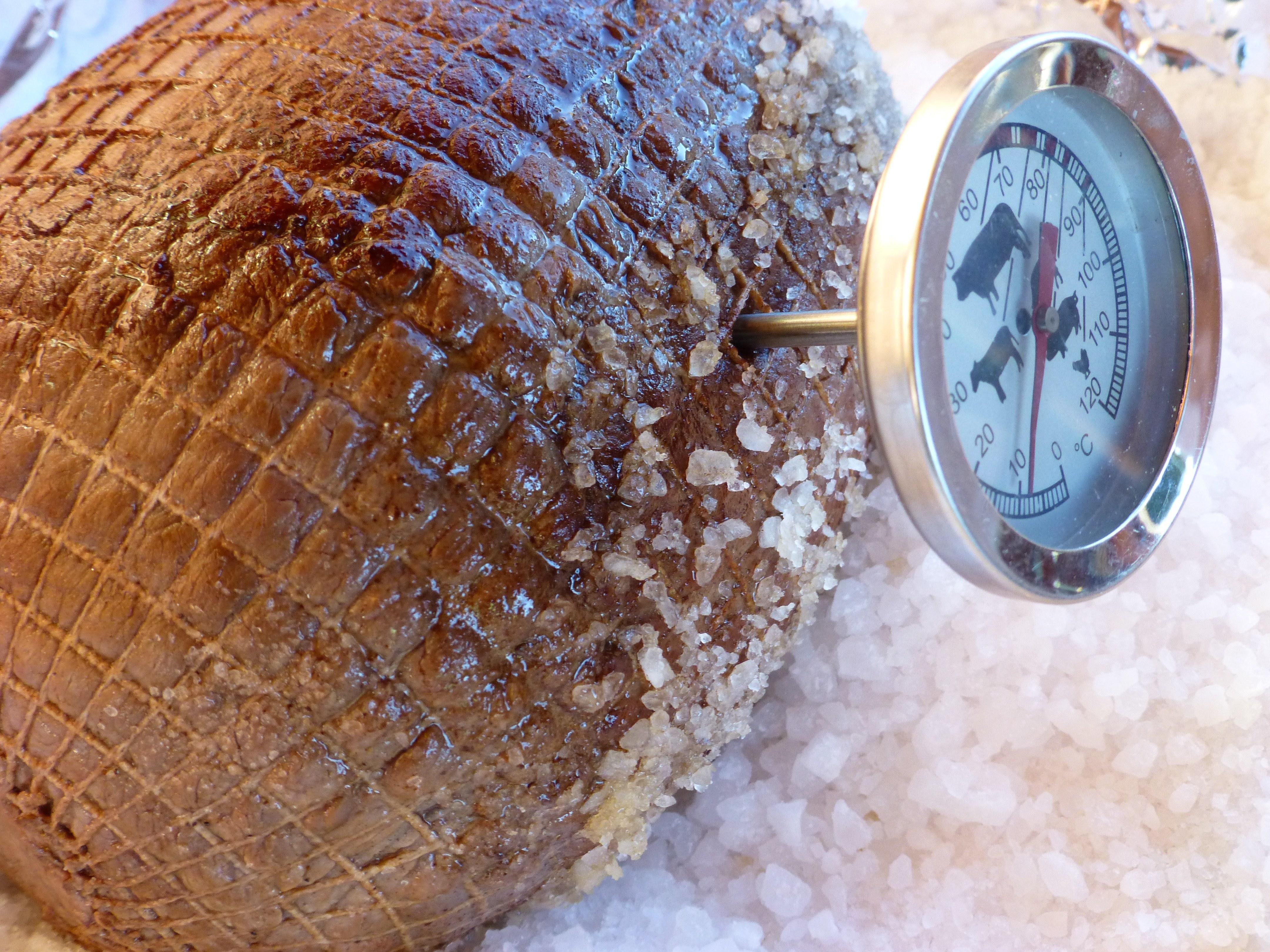 Saltbakt elgsteik. Foto: Kirsten Winge.
